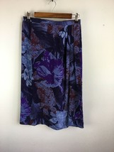 Vintage Bonwit Teller Anne Klein Womens Wrap Skirt 10 M Purple Floral Si... - $98.99