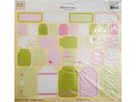 Fiskars Heidi Grace Glittered Tags Stickers, Heidi's Flowers 12x12 Inch Sheet