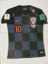 Nike Luka Modric Croatia Hrvatska 2018 World Cup Away Jersey Patches Game Detail - $109.99