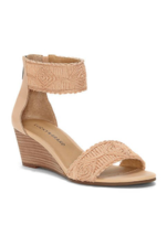 NEW LUCKY BRAND PINK LEATHER WEDGE SANDALS SIZE 8.5 M - $48.29