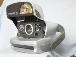 Polaroid 600 Film Camera - Takes 600 Film - Nice Silver Model - - $35.00