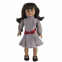 "Vintage Pleasant Company American Girl Samantha 18"" Doll Meet Dress Brown Body - $55.79"