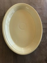 "Fiesta 1998 Homer Laughlin Fiesta Yellow 13.5""X9.5"" Oval Platter Double ... - $9.87"