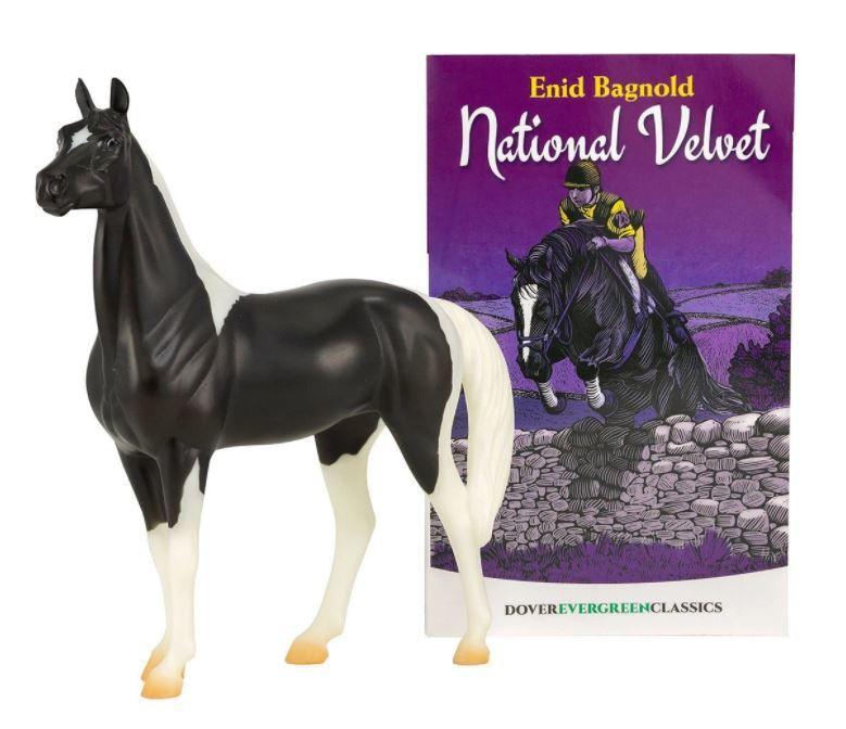 National velvet horse and book set model breyer 410021 2000x
