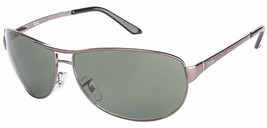 NEW RAY BAN Warrior RB 3342 004/58 Gunmetal w/ Green Polarized Lens 60mm - $445.95