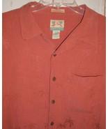Reyn Spooner Hawaiian Shirt Regency Jacguard Mens XL Silk Linen Aloha Tiki  - $29.97