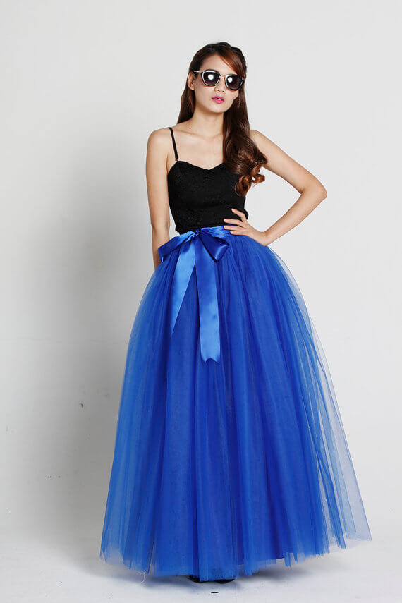 Puffy tulle maxi skirt  6