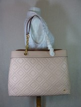 NWT Tory Burch New Mink Fleming Triple Compartment Shoulder Tote - $542.51