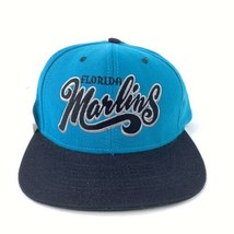 Vintage Florida Marlins Snap Back Hat MLB Adjustable Baseball Cap Deadstock - $29.67
