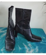 EUC - COACH *BACARA* MADE IN ITALY BLACK GENUINE LEATHER ANKLE BOOTS - S... - $49.49
