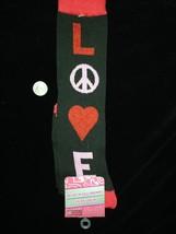 Punk Retro HEART PEACE LOVE KNEE SOCKS-Rockabilly Lolita Soccer Volleyba... - $5.91