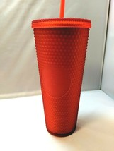 Starbucks Matte Red Studded Tumbler Cup Christmas Holiday Valentines NEW   - $52.41