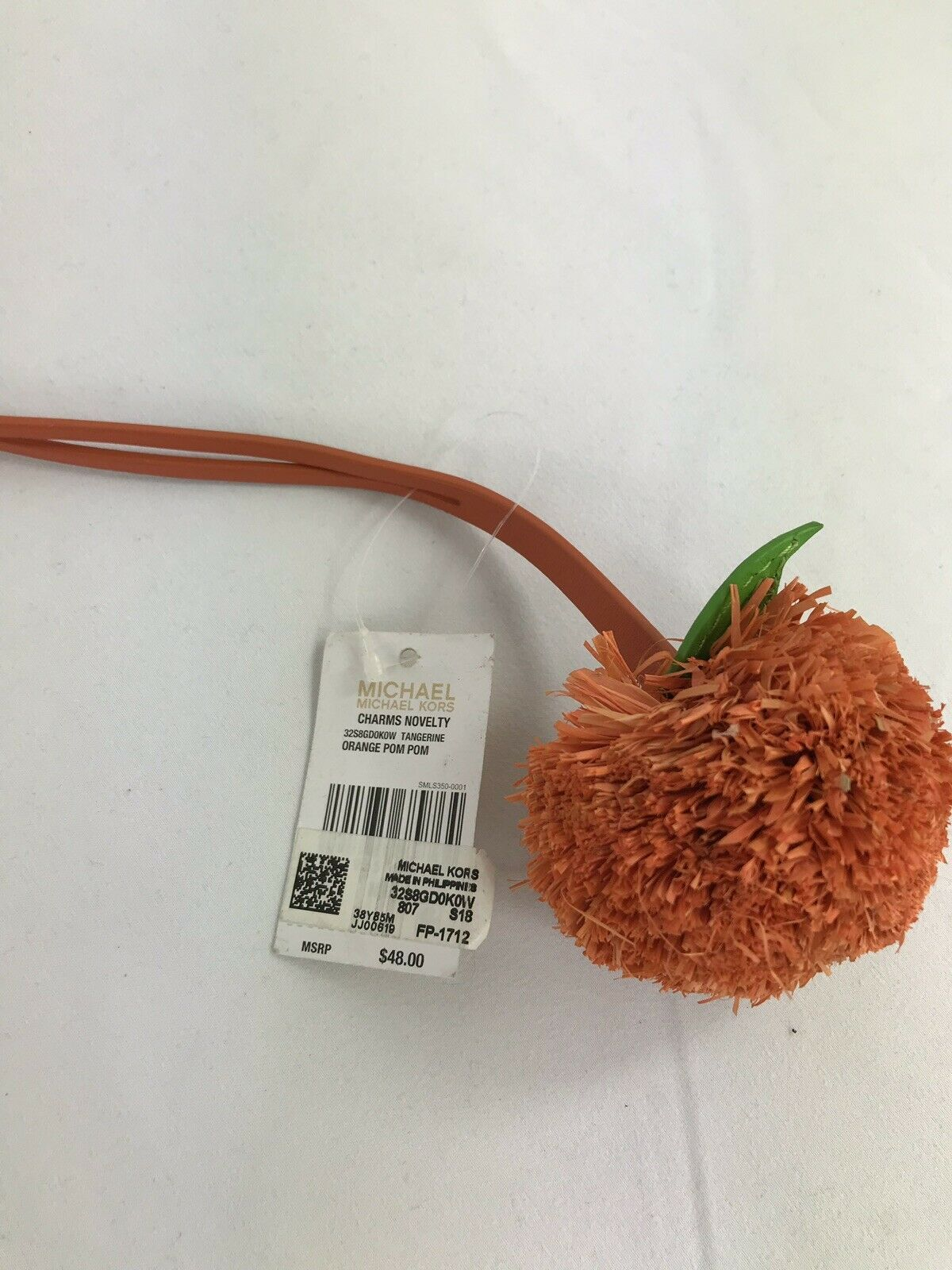 Primary image for Michael Kors Charms Novelty Orange Pom Pom