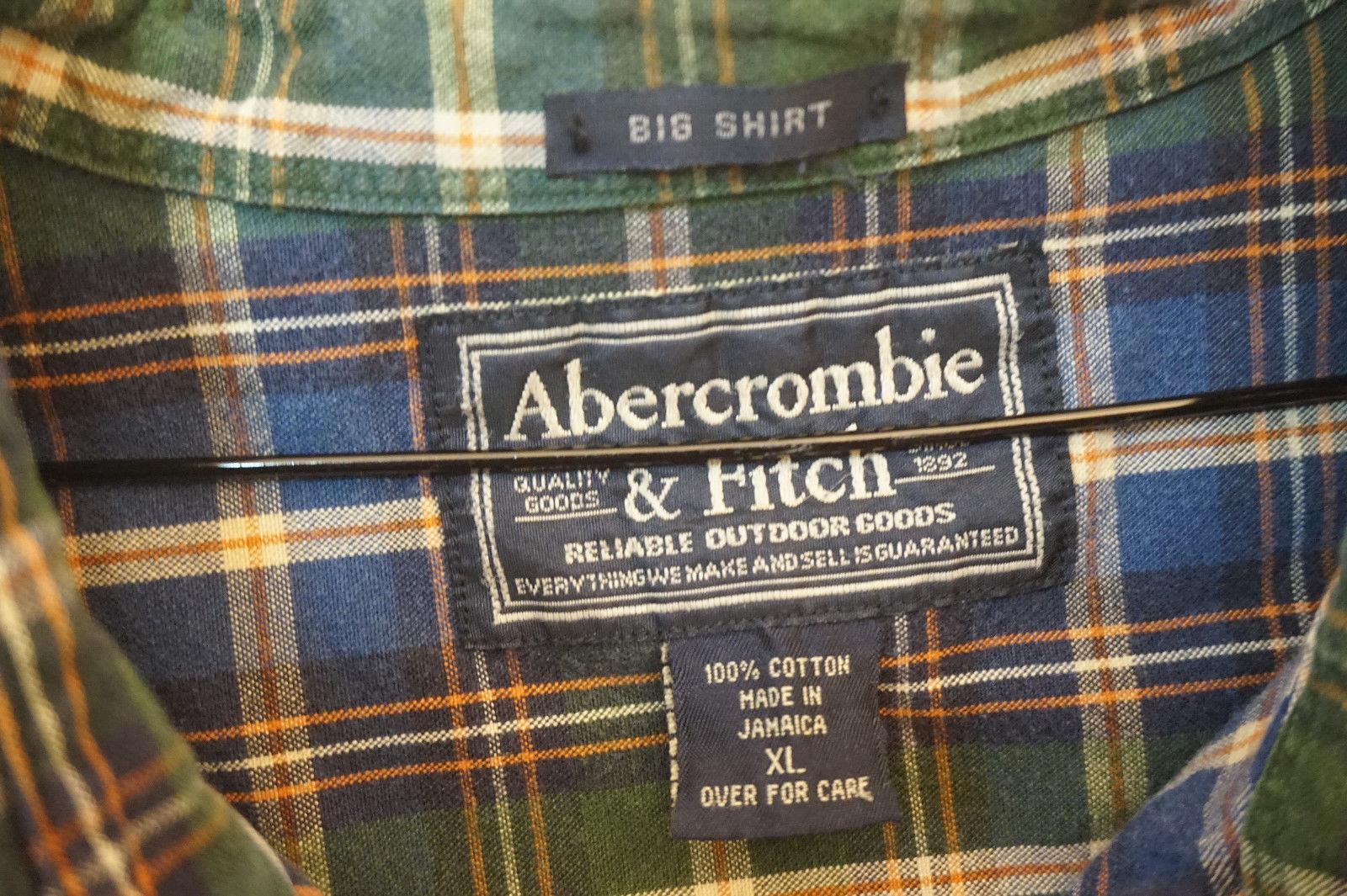 Abercrombie Heavy 1/2-Burron-Front/Henley Shirt, Men's XL 8598