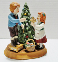 Avon 1982 Porcelain Figurine Christmas Memories Series Hand Crafted & Pa... - $22.93