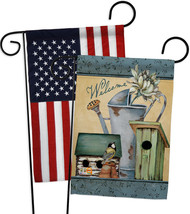Welcome Spring Garden - Impressions Decorative USA - Applique Garden Fla... - $30.97