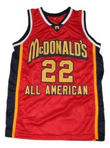 Carmelo Anthony #22 McDonald's All American New Basketball Jersey Red Any Size image 3