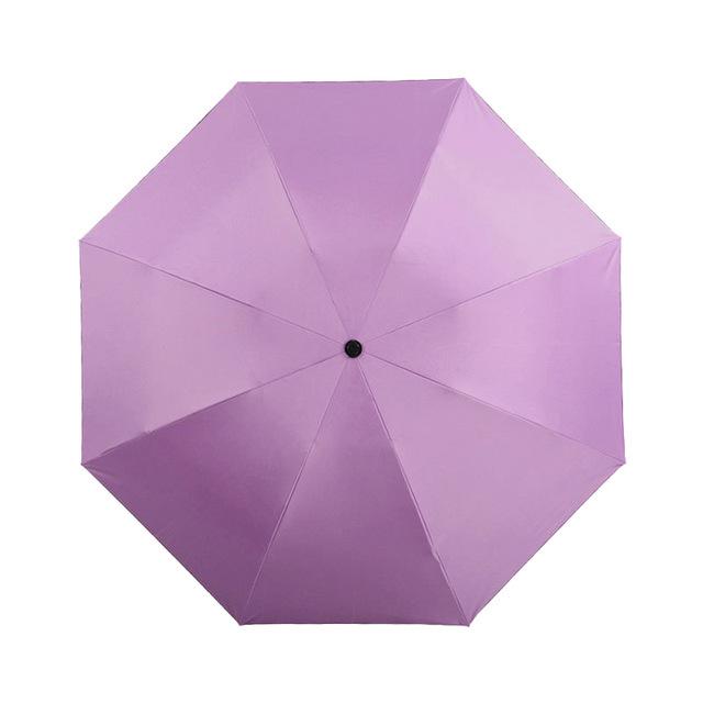 TOPX 2017 New Black Coating Umbrella Fashion Color Umbrella Rain Women 3 Folding