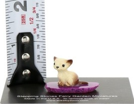 Hagen Renaker Miniature Cat Tiny Siamese Kitten on Base Stepping Stones #2731 image 2