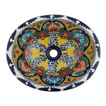 Mexican Ceramic Sink Decorative Handmade Hand painted # 212 - $109.29