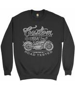 Custom Motorcycles Road Tested Sweatshirt Bobber Biker Gang MC Crewneck - $19.32+