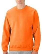 NEW Fruit of the Loom Best Collection Crewneck Fleece Sweatshirt Orange Men's LG - $14.24