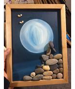Pebble Painting, Pebble Art, Wall Painting, Wall Art, Girl Painting, Gift - $39.50