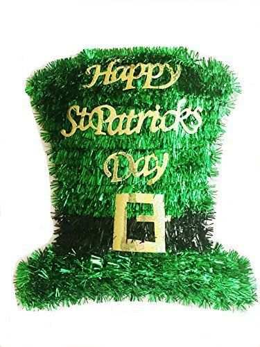 St. Patricks Day Tinsel Hat Wall Decoration Party Nice Wreath Door TOP QUALITY!