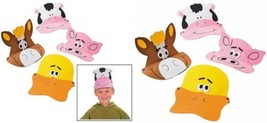 "Farm Animal Foam Visors (12 Pack) 21"" Circ. - €13,65 EUR"