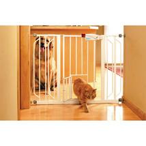 Carlson Pet White Extra Wide Walk-thru Pet Gate With Pet Door 29-51wx30h... - $86.96
