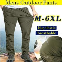 Plus size quick drying trousers mens outdoor sports casual pants waterproof hiki