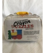 Dept 56 Crayon Puzzle Choo Choo Train in Plastic Suitcase Vintage Sealed... - $19.79
