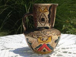 Vintage Reproduction, Native American-look, ceramic, pitcher/vase  - $10.00