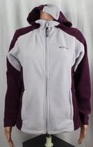 Columbia vintage women's fleece jacket full zip long sleeve hoodie purple size M - $18.32