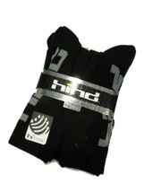 Hind men's black athletic Hydra athletic crew Socks 10-13 set of 6 pair - $33.62