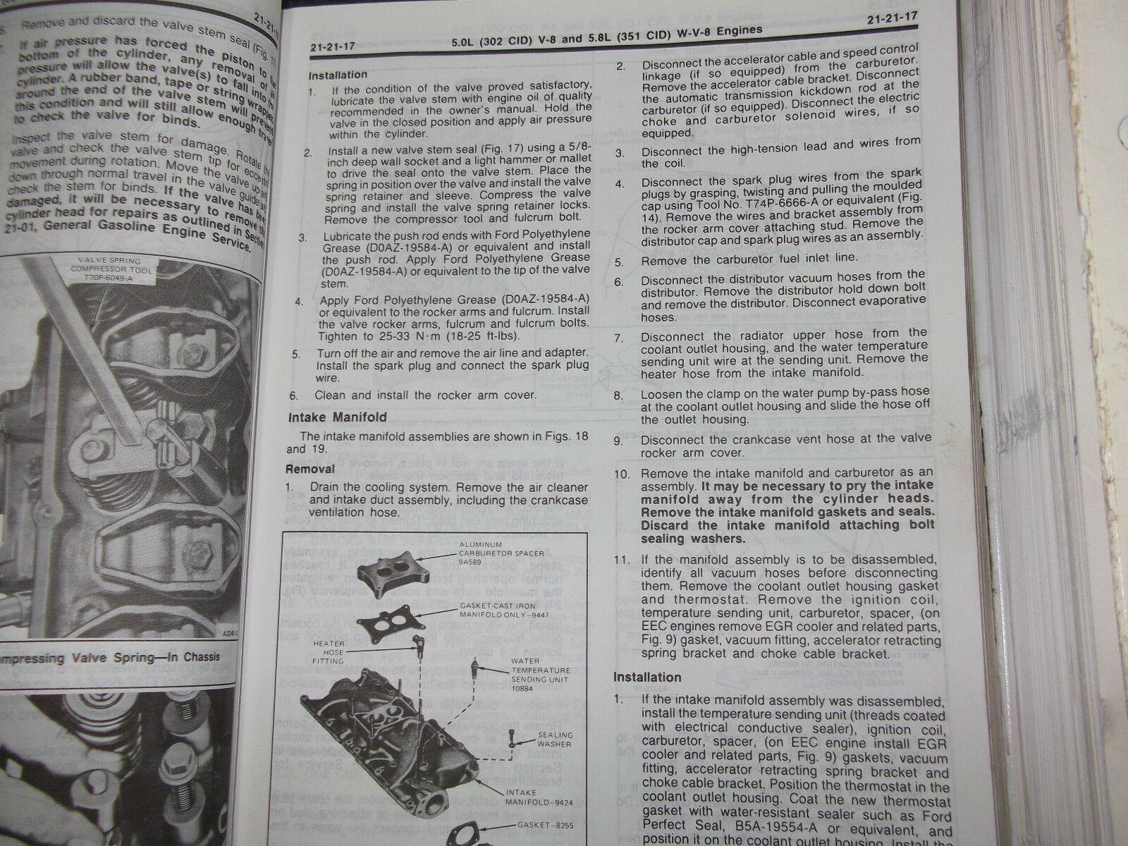1984 Ford F-150 F150 250 350 F350 Bronco Truck Service Shop Repair Manual Set image 6