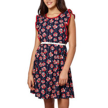 Neuf Paper Doll Poud Filles Robe, Rouge - Florale Bleu Marine Tailles Va... - $9.97