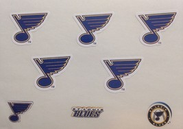 "St Louis Blues Stickers Decal Sticker Sheet NHL 5.5"" x 3.5"" NEW - $2.37"
