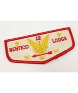 Vintage Nentico Lodge 12 OA Order Arrow WWW Boy Scouts America Flap Patch - $13.49