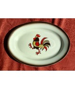 "Metlox Poppytrail Red Rooster Platter Made In Calif. 13"" X 10 1/2"" - $19.97"