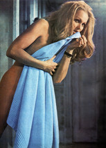 Ursula Andress naked holding towel Perfect Friday movie 5x7 inch publici... - $5.75