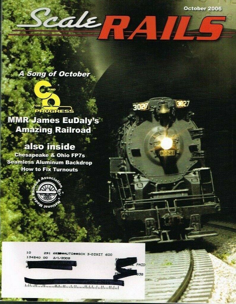 "Primary image for SCALE RAILS MAGAZINE - 2006 OCTOBER - ""JAMES EuDALY'S AMAZING RAILROAD - USED"