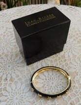 Joan Rivers Black Enamel Gold Tone Bee Bangle Bracelet in Box New - $45.00