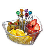 Prodyne Happy Hour Garnish Server and Diamond Picks Set in Clear - $17.99