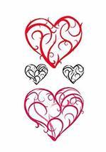 1 Set Of Creative Heart-shaped Pattern Tattoo Stickers Waterproof