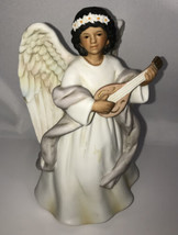 """Homco Home Interior Angel with Mandolin  #8867 Good Pre-Owned Condition 6"""" tall - $4.95"""