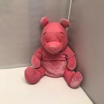 Disney Store Winnie The Pooh Velvet Pink Pooh Bear Soft Plush Stuffed An... - $39.99