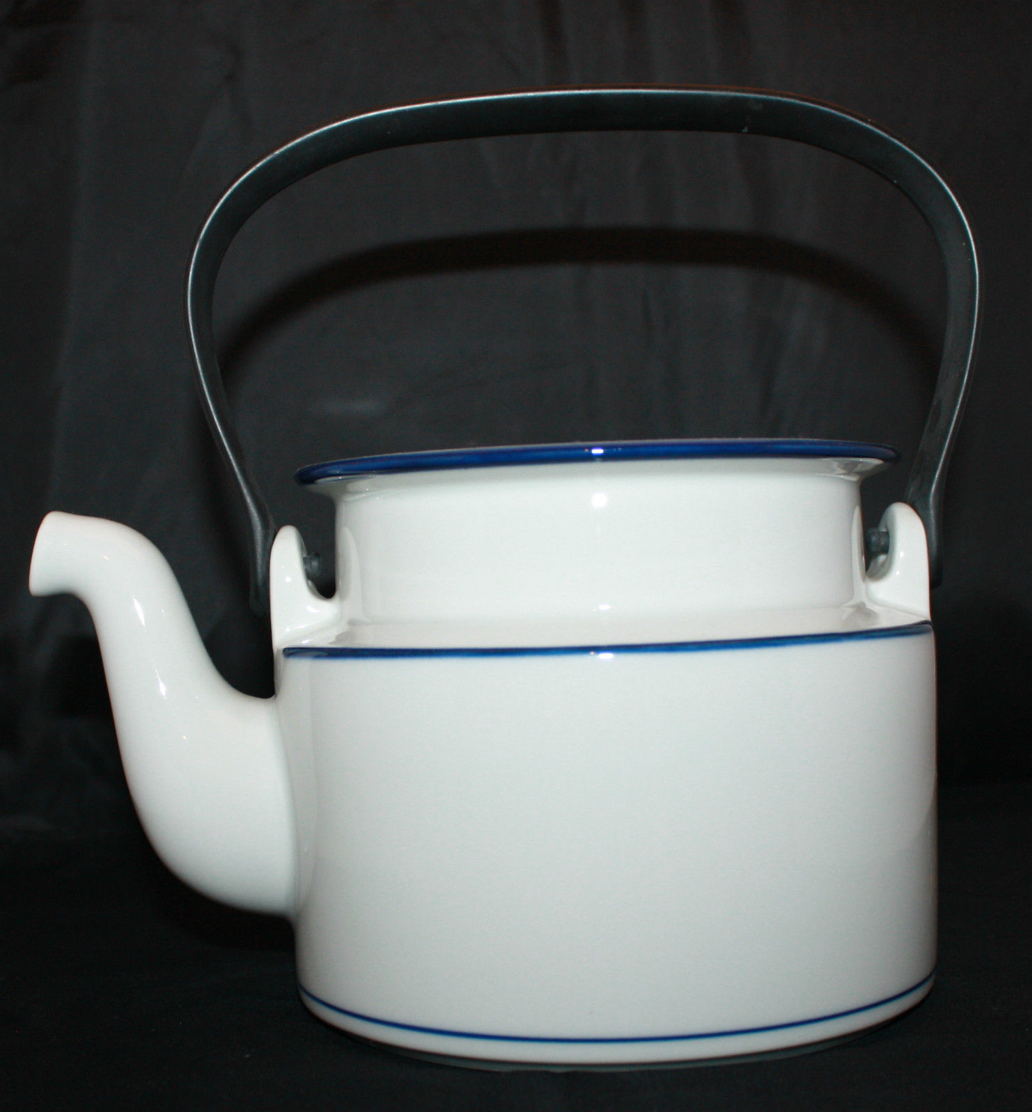 Dansk Bistro Christianshavn Blue Tea Coffee Pot Black Handle NO LID AS-IS - $35.39
