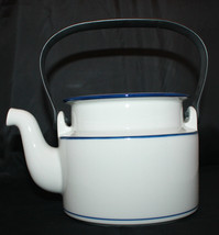 Dansk Bistro Christianshavn Blue Tea Coffee Pot Black Handle NO LID AS-IS - $35.39