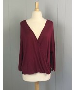 Charming Charlie Maroon and Black Shirt Size Large - $9.49
